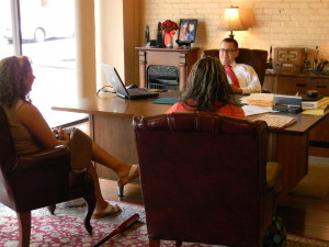 Ohio BWC Attorney Meetingwith clients about their case